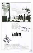 Woody Allen & Diane Keaton Signed Manhattan 11x17 Movie Poster COA