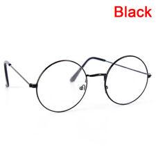 Vintage Round Glasses Men&Women Metal Frame Retro Luxury Eye wear Clear lpSPUK