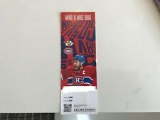 Unused Montreal Canadians tickets featuring Shea Weber march 10