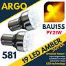 2x Offset Pin Indicador dispositivo Ámbar/Naranja BOMBILLAS 581 BAU15S PY21W