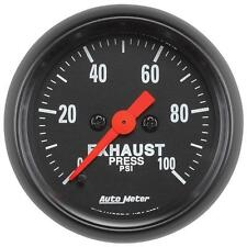 UNIVERSIAL DODGE FORD CHEVY AUTO METER 2674 Z-SERIES EXAUST PRESSURE GAUGE.