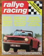 Rallye Racing 11/73 Test Triumph TR6, Mazda RX-3,Simca 1100, Stoßdämpfer, GP USA