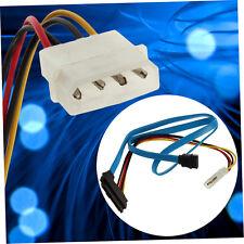 7 Pin SATA Serial ATA to SAS 29 Pin & 4 Pin Cable Male Connector Adapter E