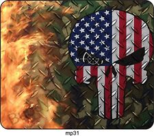Punisher US Camo Skull Flag Mouse Pad For Laptop Computer Gaming Mousepad mp31