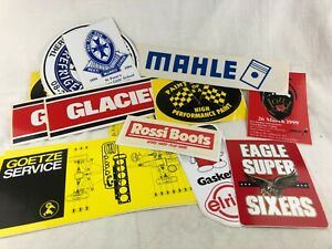 LOT OF STICKERS - ADVERTISING - TYRES - GASKETS - REFRIGERATION ETC