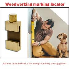 30cm Steel Ruler Woodworking Angle Scriber Brass Locator Positioning Block