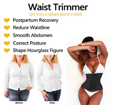Womens Waist Trainer Body Shaper Fat Burner Tummy Control Corset Cincher Slimmer