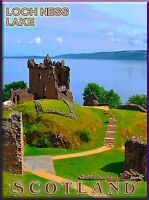 Loch Ness Lake Scotland Scottish Great Britain Travel Advertisement Art Poster