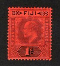 1904 Fiji - No.71(a22) 1 Pence - Violet, Black & Red - MH, Original Gum