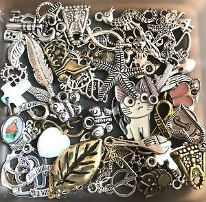 35 Mixed Randomly Chosen CHARMS Lot DIY Craft Jewelry USA 🇺🇸 SELLER !!
