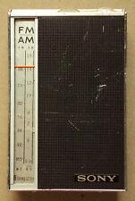 Vintage Sony TFM-825 AM/FM 8 Transistor Radio *WORKS*