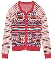 New listing Blueberry Pet Women's Holiday Charm Fair Isle Style Cardigan Sweater Small