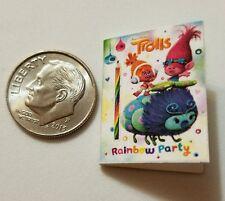 Miniature Dollhouse Disney book Barbie 1/12 Scale Trolls Poppie Branch Movie  P