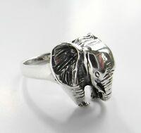 Sterling  Silver  (925)   Jumbo  Elephant   Ring   !!       Brand New  !!