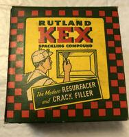 Vintage Advertising Rutland KEX Spackling Compound Unopened
