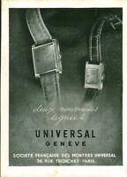 Publicité ancienne bijou montres signée Universal Genève 1949  issue de magazine