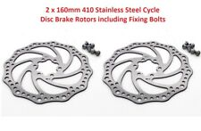 a pair of 160mm cycle MTB disc brake rotors, heat shedding HS4, bolts included