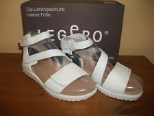 Ladies LEGERO 701 White FAUX SUEDE Hook/Loop SANDAL Size UK 4 EUR 37 New!