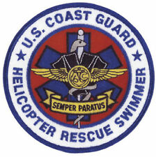 U.S. US Coast Guard USCG Helicopter Rescue Swimmer Semper Paratus Patch Emblem