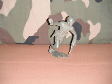 "6"" American Toy Soldier Running With Gun Marx  1960's Light Green"