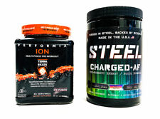 Steel CHARGED AF Candy Bliss + Performix ION Ice Punch PRE-WORKOUT COMBO