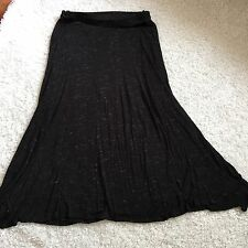 Loveappella A Pea In The Pod Maternity Maxi Skirt M Knit Black White Heathered
