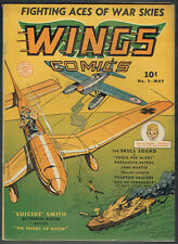 WINGS  COMICS  9  FN/6.0  - Scarce issue on Fiction House from 1941!