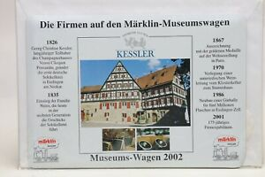 Märklin Blechschild Die Firmen auf dem Museumswagen Sekt Kessler 2002 NEU OVP