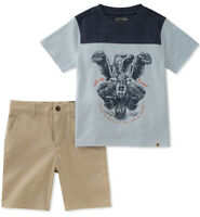 Lucky Brand Boys Blue Top 2pc Short Set Size 2T 3T 4T 4 5 6 7