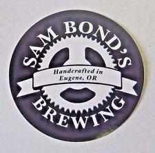 Decal Sam Bond's Small Batch Micro Brewery Eugene Oregon Sticker Craft Beer