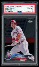 2018 Topps Chrome #100 Mike Trout Batting Angels PSA 10   *0409