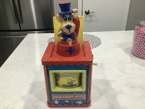RARE Knickerbocker Huckleberry Hound Jack-in-the-box 1959 Hanna Barbera