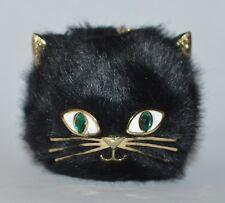 BATH BODY WORKS FURRY BLACK CAT POCKETBAC HOLDER SLEEVE HAND GEL SANITIZER CASE