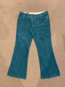 Womens Lands'End teal corduroy pants size 14P