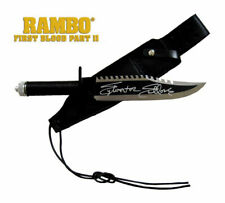 Sylvester Stallone John Rambo Autographed FIRST BLOOD RAMBO II Knife ASI Proof