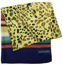 MISSONI HOME BEACH TOWEL CHAMPIGNON COLLECTION TINKA 100  100% LINEN JACQUARD