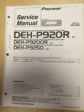 Pioneer Service Manual for the DEH P920R  P9250 P9200R Car Radio Stereo    mp