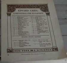 Anitra's Tranz, Op. 46, No. 3, Edvard Grieg, 1926 OLD SHEET MUSIC