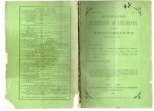 CLEVELAND INSTITUTION OF ENGINEERS PROCEEDINGS FEBRUARY 23 1891 PAPERBACK