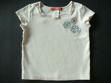 Gymboree~CHELSEA GIRL Rhinestone Shirt~Sz 4 4T~Sparkle Flower Summer Top~EUC~