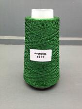 100G BRIGHT GREEN COLOUR 2/60NM 100% FINE SILK YARN 4031