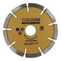"Mortar Raking Disc 4-1/2"" 115mm Diamond Pointing Angle Grinder Blade Masonry"