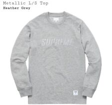 Supreme Metallic L/S Top XL Heather Grey *Brand New* Dead-Stock