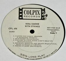 Nina Simone With Strings-ORIGINAL 1966 US Mono PROMO LP-CLEAN!