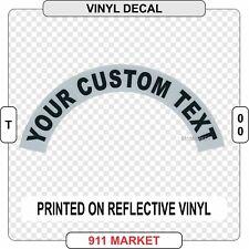 Custom Reflective Helmet Sidebar Decal Sticker Fire Firefighter Department  T 00