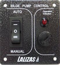 Waterproof Stainless Steel 3 Way Fused Bilge Pump Switch 12 / 24 Volt New N61