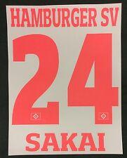 HSV Hamburger SV SAKAI Player Flock 25cm fürs adidas Home Trikot 2016-2017