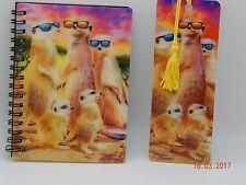 3D livelife Cool Suricatas A6 Jotter/nota marcador de Libro +!! Excelente Regalo!