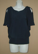 Womens Size Small Sleeveless Solid Blue Backless Summer Fashion Blouse Shirt Top