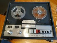 Vintage Reel to Reel Masterwork M 807 4 Track Stereo Tape Recorder Player untest
